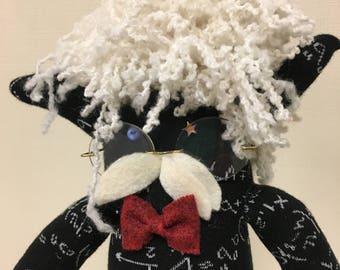 The Professor: Sock Art Doll