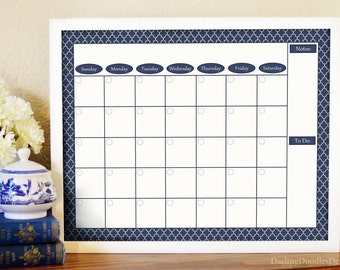 Framed Wall Calendar framed calendar | etsy