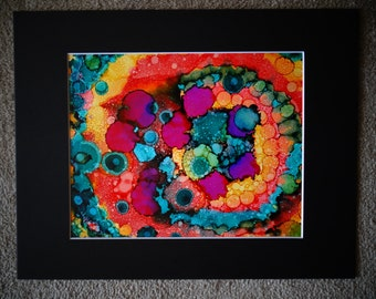 """Release. Alcohol Ink on 9"""" X 12"""" Yupo"""