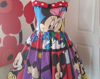 Custom Made to Order Disney  Sweet Heart Dress Sz X-Small to 3X