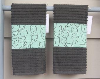 dish towel, hand towel, hostess gift, housewarming gift, modern, pretty towel, dog, cat