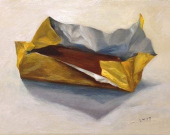 Still Life Oil Painting titled 'Chocolate is good for you'