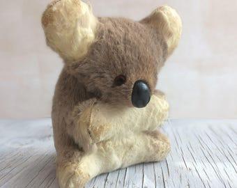 Australian vintage toy koala bear. Stuffed toy from Australia, circa 1960s.