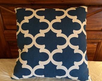 Blue Pillow, Cream Pillow, Cottage Pillow, Farmhouse Deccor,  Throw Pillow, Accent Pillow, Blue Cushion, Farmhouse Pillow, Cottage  Chic