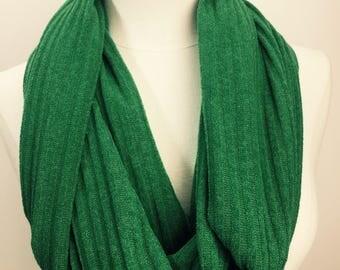 Kelly Green Sweater Knit Infinity Scarf