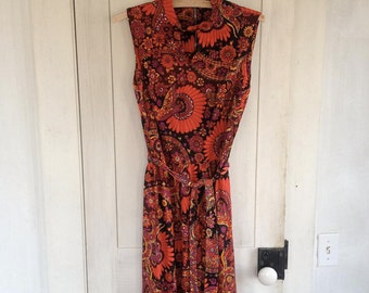 Psychedelic Floral Maxi Dress