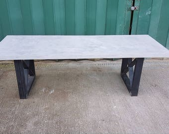 Polished Concrete (Microcement) Dining Table