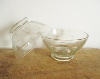 2 french vintage bowls, Glass bowl, France, 1950, Antique, Bol Café au lait, Retro, Mid century