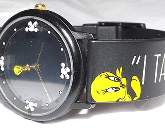 Vintage Looney Tunes Hologram Sylvester The Cat Tweety Bird Watch