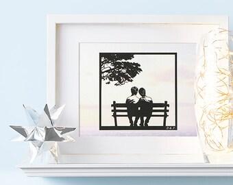 Gay Art, Gay Pride, Mr and Mr, Gay Wedding Gifts, Gay Marriage Gift, His and His Wedding Gift, Gay Engagement Gifts, Gay Wedding Anniversary