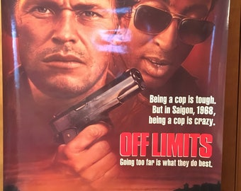 Movie poster, Off Limits with Gregory Hines.