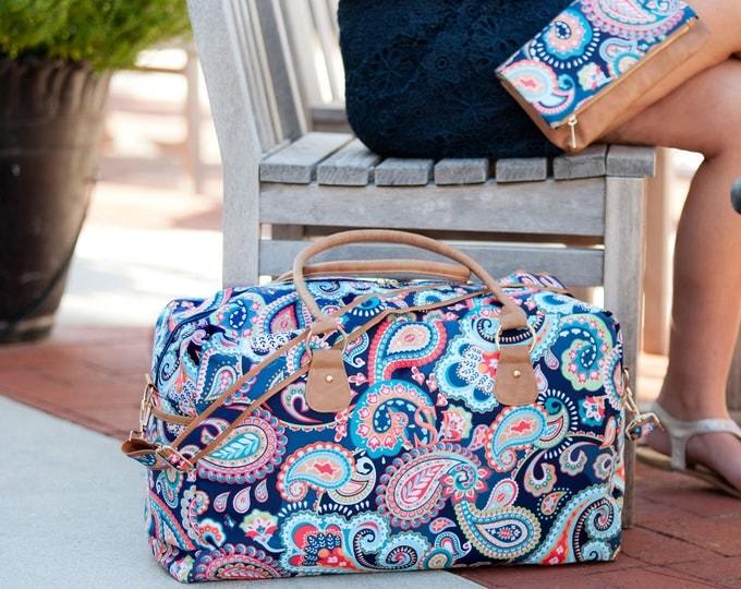 Monogrammed Weekender Bag, Duffle Bag, Overnight bag, Monogrammed Gifts, Bridal Shower, Bridesmaid, Honeymoon, Weekend Bag