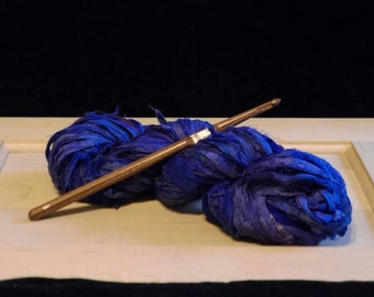 Handmade Black Walnut Crochet Hook Size I