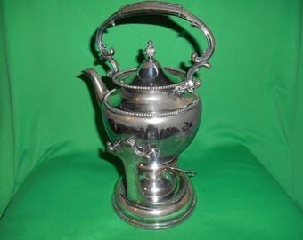One (1), Silver Plated, Samovar, from Superior Silver Co. in the 4080 Pattern.