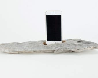 Docking Station for iPhone, iPhone dock, iPhone Charger, iPhone Charging Station, iPhone driftwood dock, wood iPhone dock/ Driftwood-No. 989