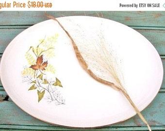 """ON SALE Vintage 13"""" Oval Serving Platter in the Leaf O'gold (gold Trim) pattern Taylor Smith & Taylor China Serving Platter"""