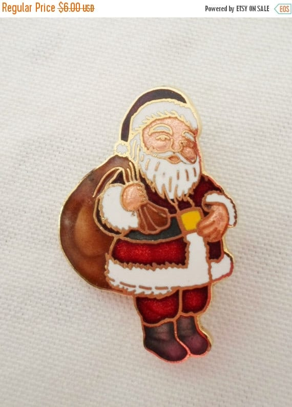 On sale vintage santa claus brooch gold by debscountryvintage