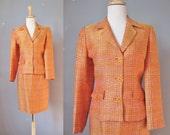 Orange Suit / Vtg 90s / P...