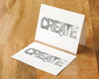 Hand-drawn coloring card - inspire someone's creativity!