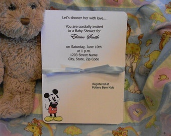 Baby Shower Invitations - Mickey Mouse