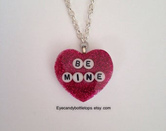 Be Mine Heart Charm Necklace