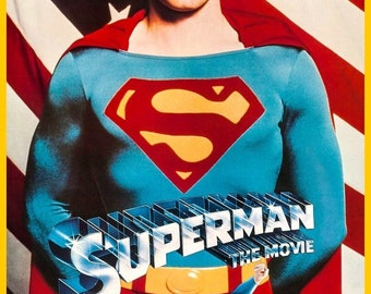 SUPERMAN THE MOVIE Reproduction Stand-Up Display - Collectibles Collection Collector Memorabilia Action Movies Gift Idea Frameable kiss76