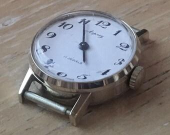 1960s Asprey of London 17 Jewels Swiss Made Gold Plated Arabic Numerals Ladies Wrist Watch