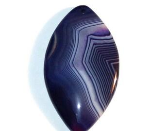 Purple striped Agate Pendant Stone (K3)