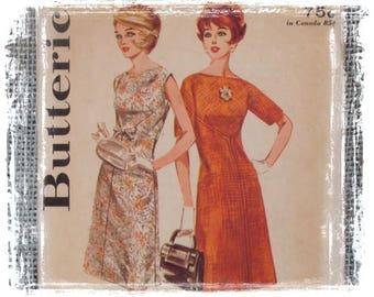 Vintage 1960s Dress Pattern /  Butterick Pattern /  Boutique Pattern / Mod Dress