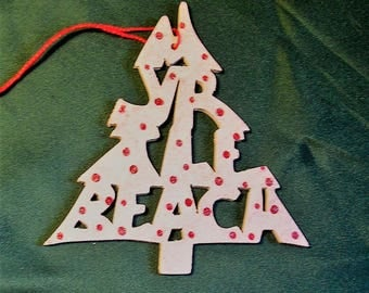 Myrtle Beach, tree shaped tree ornament