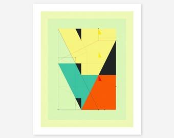 DELINEATION 102 (Giclée Fine art Print) Abstract, Geometric Artwork