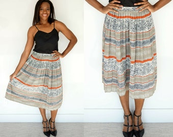 1980s Pleated Tribal Skirt