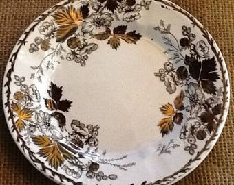 Copper Lustre Salad Plate