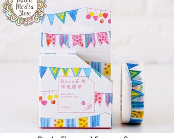 Party Flags Washi Tape - So pretty for your planner & art journal pages!