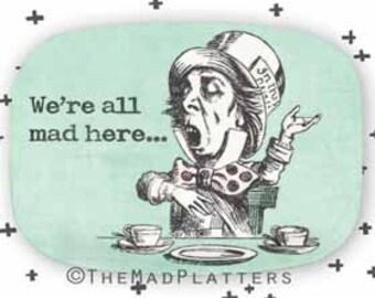 Mad Hatter II melamine platter