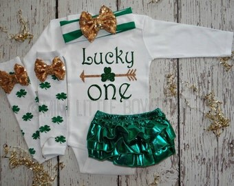 First Birthday St Patrick's Day Bodysuit- My 1st  Birthday St. Patrick's outfit- First Birthday St. Patty day bodysuit 1st St Patrick's