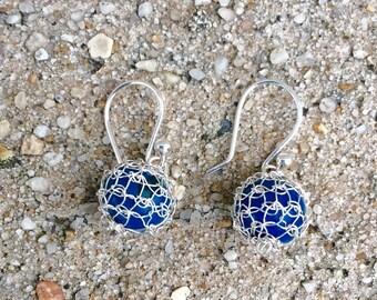 Sterling Silver Cochet Earrings / Acai Seeds Earrings