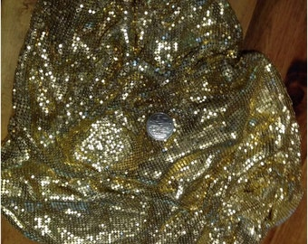 Beautiful Gold Metal Mesh Fabric, Like Glomesh 45x75cm, Free Postage!