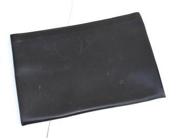 Vintage Folio, Large Black Folio, Vintage Pouch, Black Portfolio, Laminar New York Folio, Black Briefcase, Black Sleeve, Unisex Folio