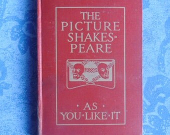 Vintage Poetry Book - The Picture Shakespeare, As You Like It, William Shakespeare, Blackie & Son Limited, Title Page Talwin Morris