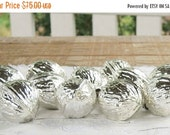 On Sale Antique Blown Glass Silver Acorns Ornaments Set of 11, West Germany Ornaments Tree Trimming,  Mercury Glass Ornaments, Wedding Decor