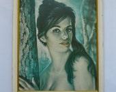 Tina by J H Lynch Vintage Framed Print