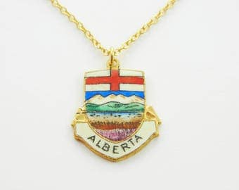 Alberta Pendant Necklace - Canada Necklace