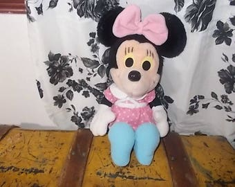 Minnie Mouse Playskool, Disney pink poka dot stuffed Minnie Mouse, Disney Characters, Minnie Mouse toy, Vintage Minnie Mouse Toy