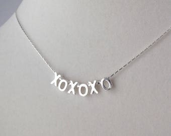 Sterling Silver X's and O's Necklace