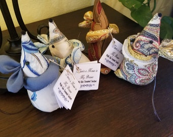 006 There's a Mouse in my Drawer, scented sachet, Set of 4