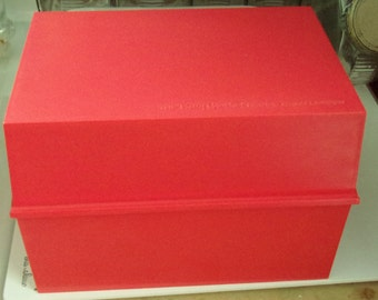Orange Betty Crocker Recipe Box and Cards