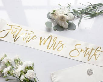 Future Mrs. Sash Fancy Font - bachelorette sash, bachelorette party, bride to be, wedding gift, wedding shower gift, bachelorette gift
