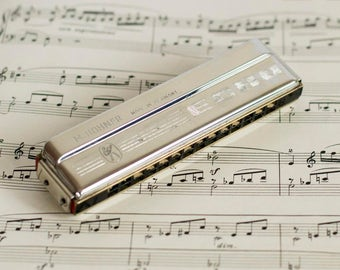 Vintage Harmonica M.Hohner ESHO Made in Germany Mouth Organ Key of C
