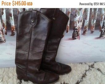 """SALE FRYE Oxblood Boots Leather Riding Knee high 6 """"Melissa"""""""